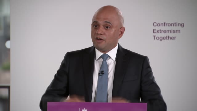 sajid javid saying the police force can fund the pay rise from their budgets - home secretary stock videos & royalty-free footage