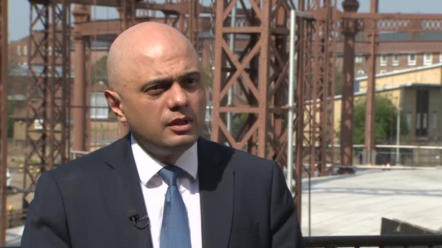 Sajid Javid speech at violent crime summit draws questions he is launching Tory leadership campaign ENGLAND London EXT Sajid Javid MP interview SOT...