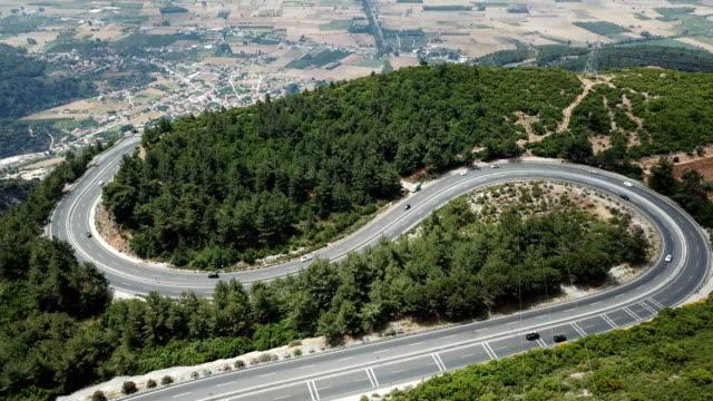 sakar road high view, mugla - mugla province stock videos & royalty-free footage