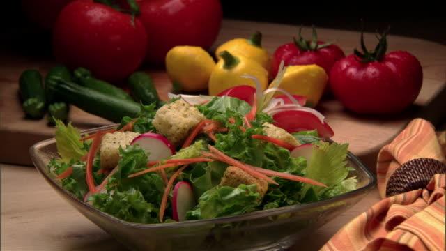 cu, salad and fresh vegetables  - crucifers stock videos & royalty-free footage