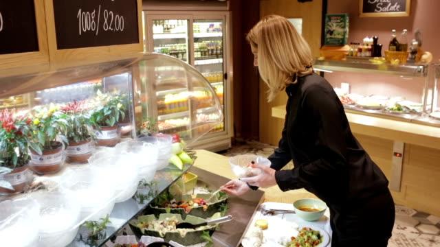 Salad bar, handheld shot