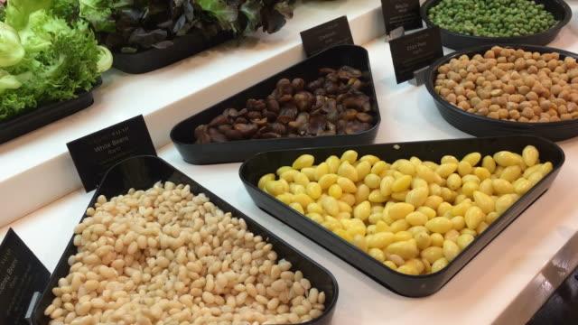 salad bar - food bar stock videos and b-roll footage