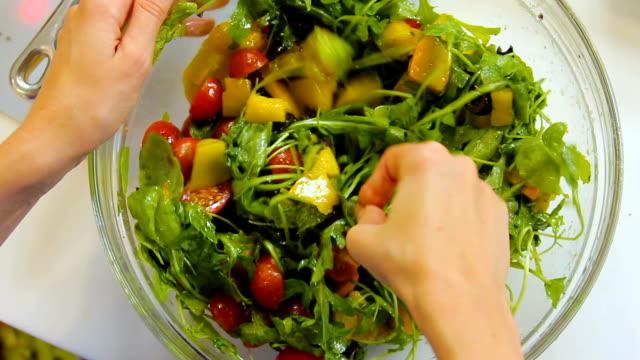 Salad mixing