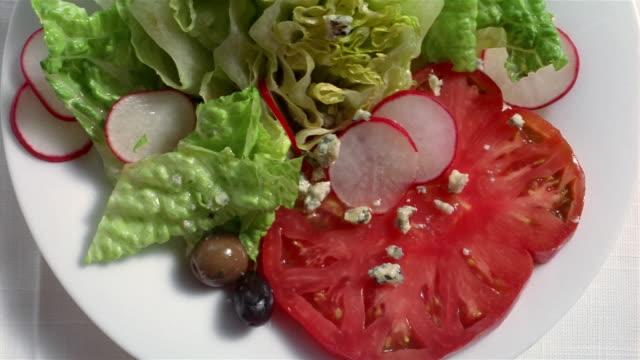 ECU salad on plate