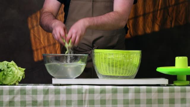 vidéos et rushes de salad tosser. - laver