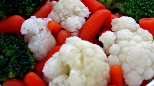 salad - cauliflower stock videos & royalty-free footage