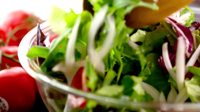 salad - mixing stock videos & royalty-free footage