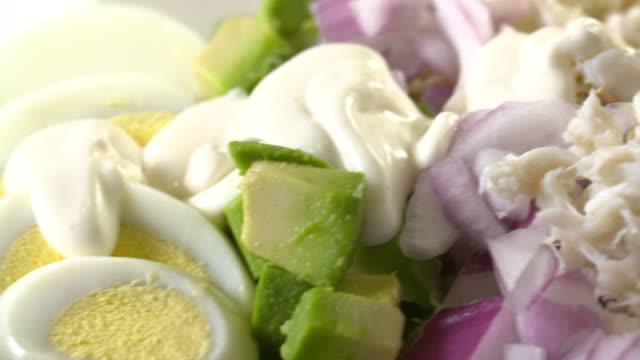 A salad with mayonnaise