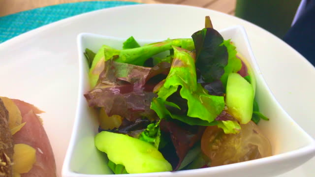 salad with olive oil - salad oil stock videos & royalty-free footage