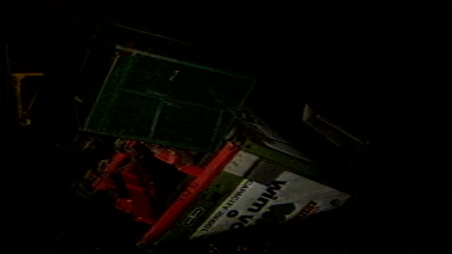 over 1000 feared dead; file / tx 6.3.97 - originally from 8.3.87 belgium: off zeebrugge: night various shots of stricken ferry 'herald of free... - passenger craft stock videos & royalty-free footage