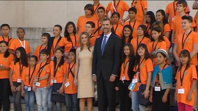 Salamanca Sept 6 Spanish Crown Prince Felipe and his wife Letizia inaugurate the IberoAmerican Congress of Languages in Education and Culture and the...
