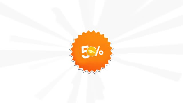 サレ 50% - パーセント記号点の映像素材/bロール