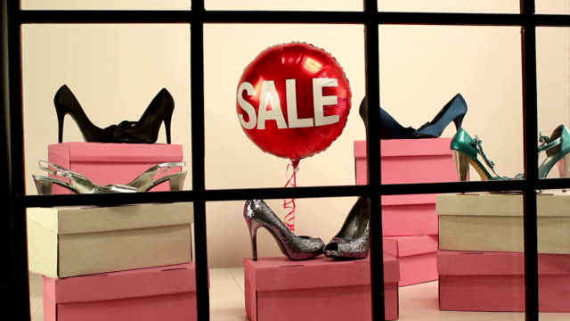 Sale at the Shoe shop - Window display