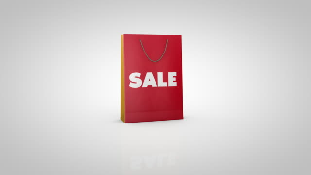 sale bag - shopping bag stock videos & royalty-free footage