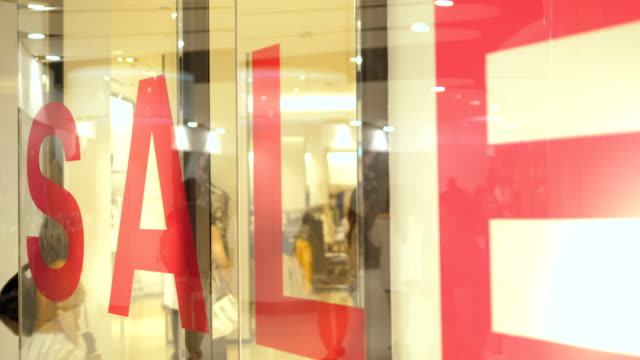 sale sign - window display stock videos & royalty-free footage