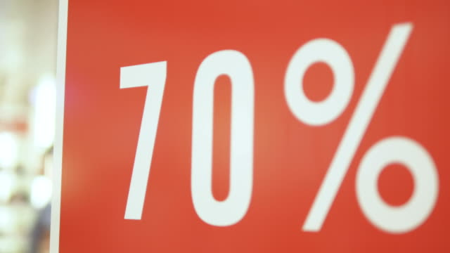 big sale  70% sale - poster template stock videos and b-roll footage