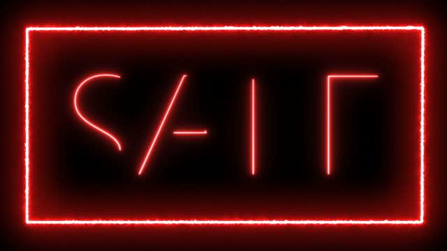 vendita - neon video stock e b–roll