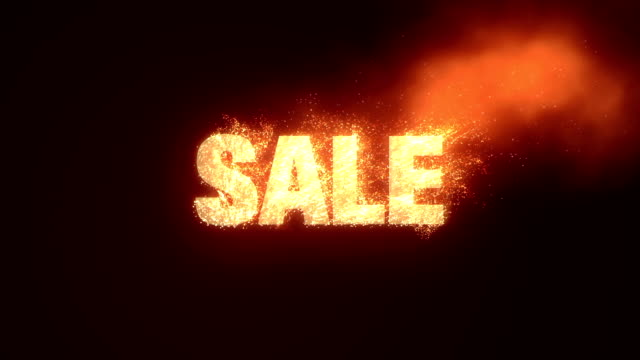 Sale With Fire Effect - Alpha Channel