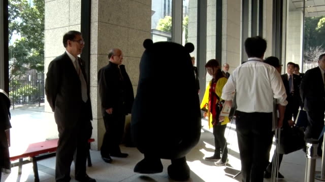 Sales of various products featuring 'Kumamon' black bear mascot the official image character of western Japan Kumamoto Prefecture surpassed 100...