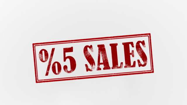 5% sales - five objects stock videos & royalty-free footage