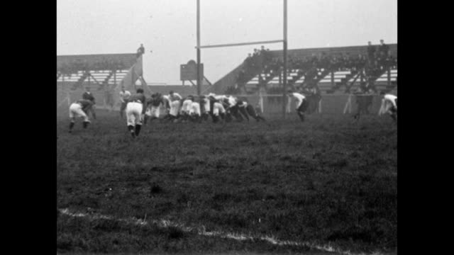 1901 Salford battles Batley on the rugby field