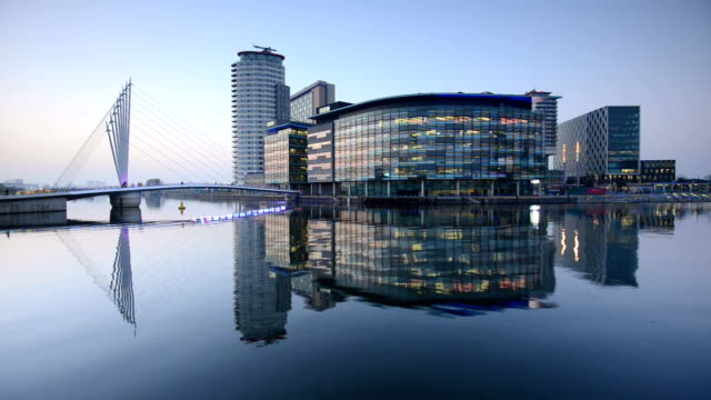 salford quays, manchester - manchester england stock videos & royalty-free footage