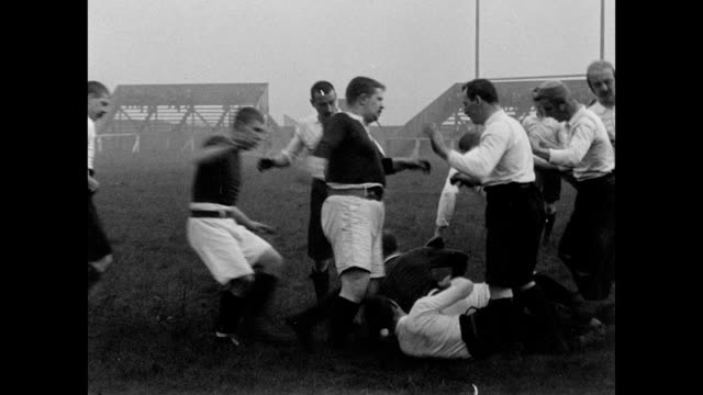 Salford takes on Batley on the rugby field 1901