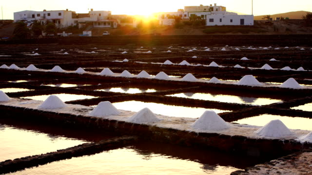 salinas del carmen - fuerteventura, canary islands - salt mineral stock videos & royalty-free footage