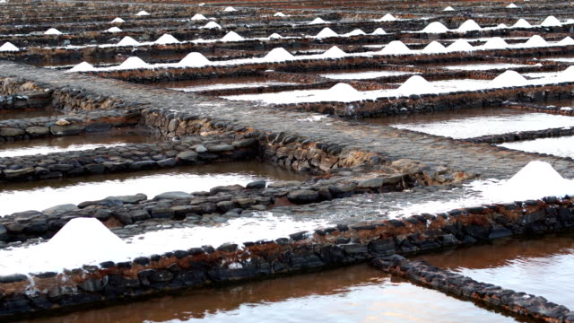 salinas del carmen - fuerteventura - salt mineral stock videos & royalty-free footage