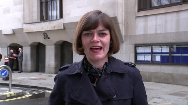 sally challen walks free after judges rule she will not face retrial england london old bailey ext reporter to camera sot - legal occupation stock videos and b-roll footage