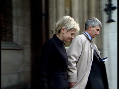 reviews of other cases requested; lib sally clark & husband stephen leaving court - husband stock videos & royalty-free footage