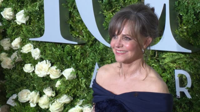 sally field at 2017 tony awards red carpet at radio city music hall on june 11 2017 in new york city - sally field stock videos & royalty-free footage