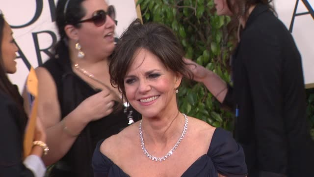 sally field at 70th annual golden globe awards arrivals 1/13/2013 in beverly hills ca - sally field stock videos & royalty-free footage