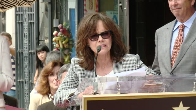 speech sally field at sally field honored with star on the hollywood walk of fame at hollywood walk of fame on may 05 2014 in hollywood california - sally field stock videos & royalty-free footage