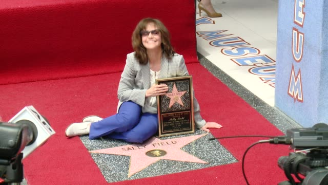 sally field at sally field honored with star on the hollywood walk of fame at hollywood walk of fame on may 05 2014 in hollywood california - sally field stock videos & royalty-free footage
