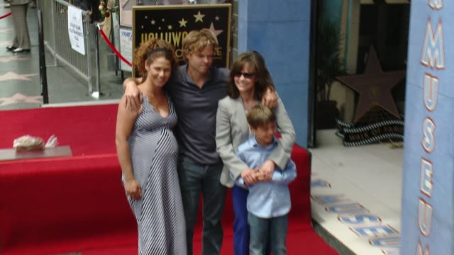 sally field family at sally field honored with star on the hollywood walk of fame at hollywood walk of fame on may 05 2014 in hollywood california - sally field stock videos & royalty-free footage