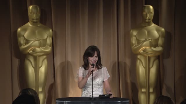 interview sally field on her role in 'lincoln' and on the importance of documentary films at the 85th academy awards nominations luncheon in beverly... - sally field stock videos & royalty-free footage