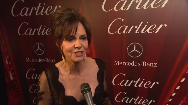 interview sally field on receiving the career achievement award her role in lincoln what she appreciates about the festival at 24th annual palm... - sally field stock videos & royalty-free footage