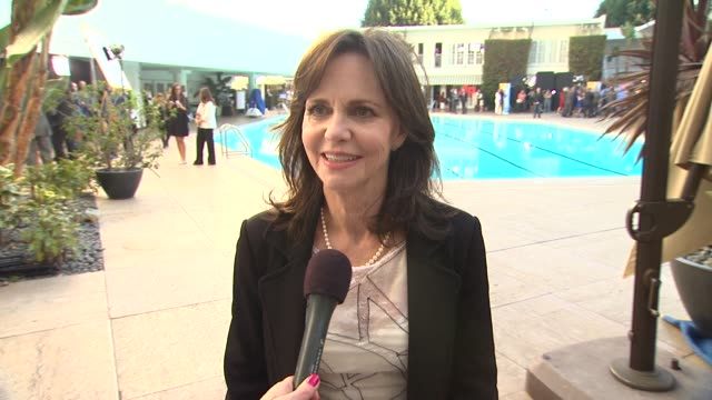interview sally field on the oscar luncheon at 85th academy awards nominations luncheon 2/4/2013 in beverly hills ca - sally field stock videos & royalty-free footage