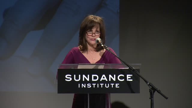 speech sally field talks about the tennessee williams award not being about finding the next tennessee williams thanks organizations involved at 2013... - sally field stock videos & royalty-free footage