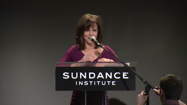 speech sally field thanks everyone for being here says sundance will always remain in her heart at 2013 tennessee williams award at 711 greenwich... - sally field stock videos & royalty-free footage