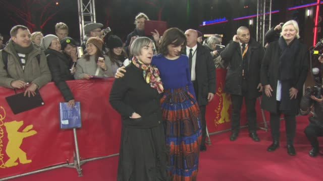Sally Hawkins Aisling Walsh at Berlin Film Festival 'Maudie' Red Carpet at FriedrichstadtPalast on February 15 2017 in Berlin Germany