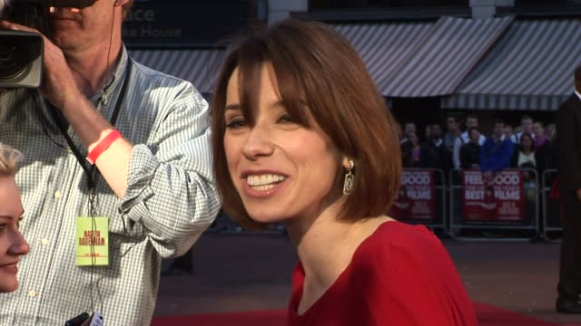sally hawkins at the made in dagenham world premiere at london england - sally hawkins stock videos & royalty-free footage