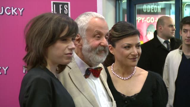 sally hawkins mike leigh and alexis zegerman at the 'happy go lucky' premiere on april 14 2008 - sally hawkins stock videos & royalty-free footage