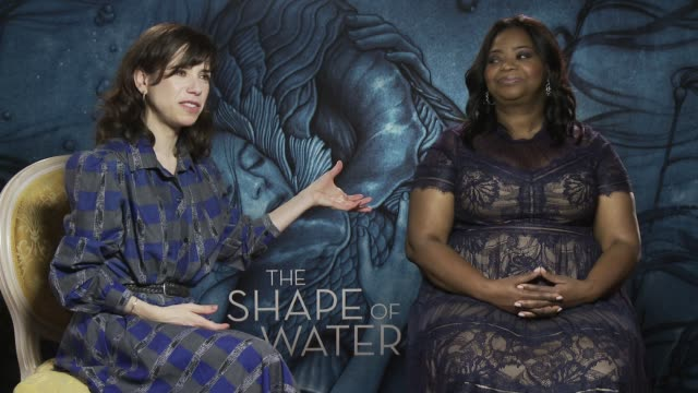 interview sally hawkins octavia spencer on being in venice at 'the shape of water' interview 74th venice international film festival on august 31... - sally hawkins stock-videos und b-roll-filmmaterial