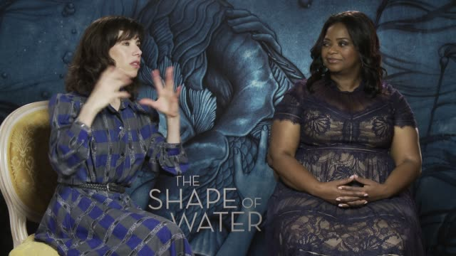 interview sally hawkins octavia spencer on guillermo del toro adult fairy tale at 'the shape of water' interview 74th venice international film... - sally hawkins stock-videos und b-roll-filmmaterial