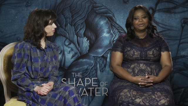 interview sally hawkins octavia spencer on guillermo del toro story telling their characters seeing the film for the first time being part of the... - sally hawkins stock-videos und b-roll-filmmaterial