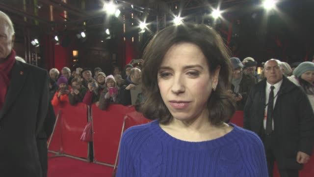 interview sally hawkins on her character maud lewis on approaching the subject of the film on working with the rest of the cast at berlin film... - sally hawkins stock-videos und b-roll-filmmaterial