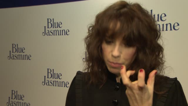 interview sally hawkins on working with woody allen on her performance at 'blue jasmine' uk film premiere at odeon west end on september 17 2013 in... - sally hawkins stock-videos und b-roll-filmmaterial