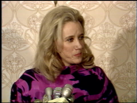 sally kirkland at the 1988 academy awards luncheon at the beverly hilton in beverly hills california on march 29 1988 - sally kirkland stock videos & royalty-free footage